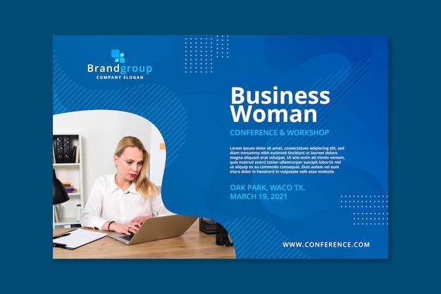 Modelo de banner de mulher de negócios