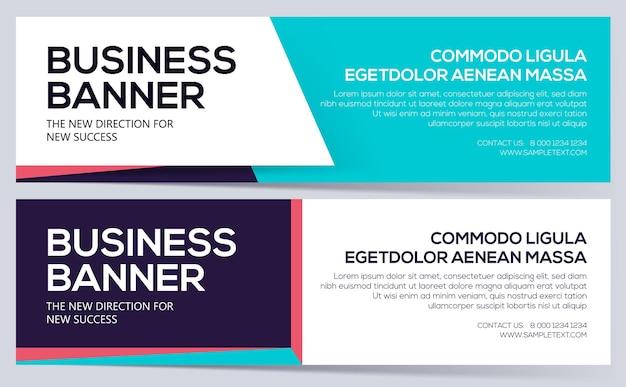 Modelo de banner de negócios banners de negócios podem ser usados para o cabeçalho do site. layout de design elegante