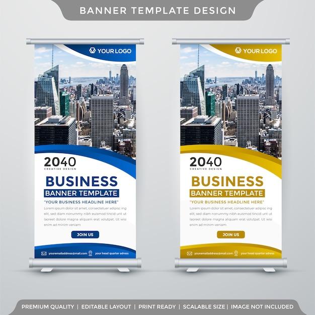 Modelo de banner de negócios com estilo minimalista