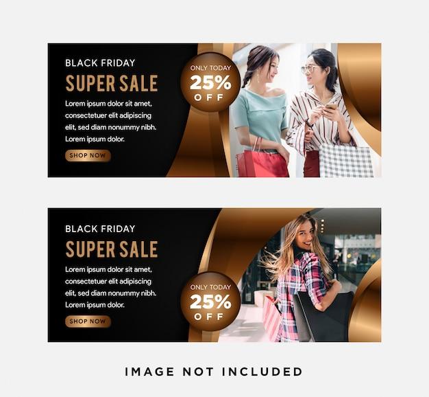 Modelo de banner de negócios corporativos abstratos de oferta de desconto super venda, gradiente de modelo de layout de negócios de publicidade horizontal conjunto de cabeçalho de capa