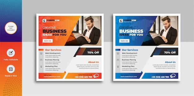 Modelo de banner de negócios corporativos