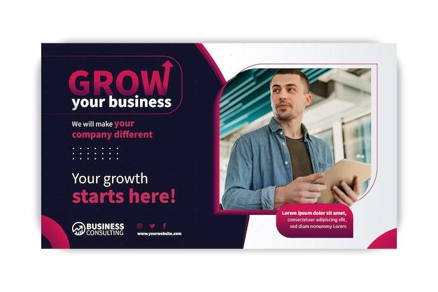 Modelo de banner de negócios em geral