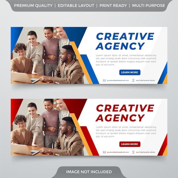 Modelo de banner de negócios estilo premium