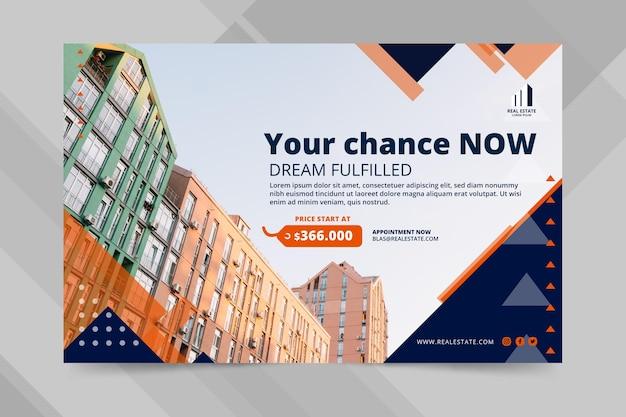 Modelo de banner de negócios imobiliários