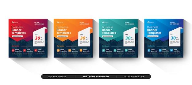 Modelo de banner de negócios mídias sociais