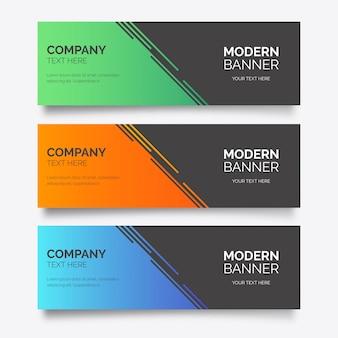 Modelo de banner de negócios modernos