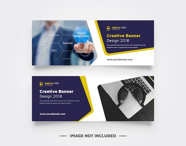 Modelo de banner de negócios para web