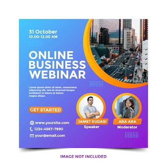 Modelo de banner de negócios para webinar