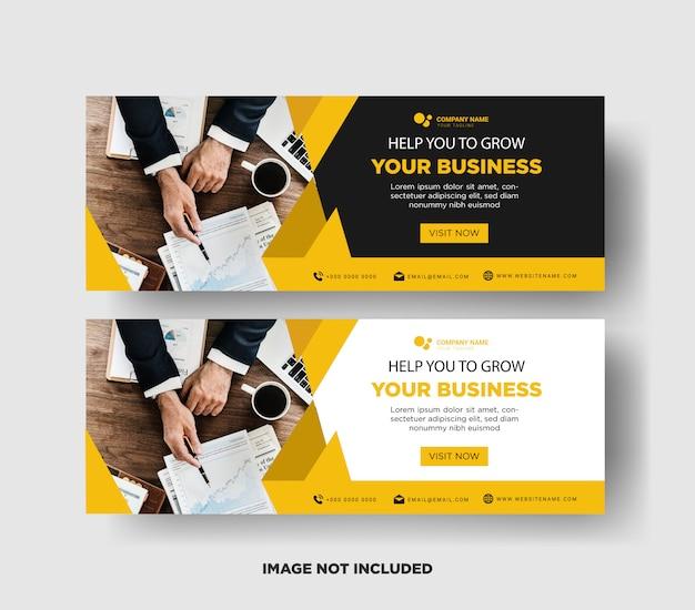 Modelo de banner de negócios premium