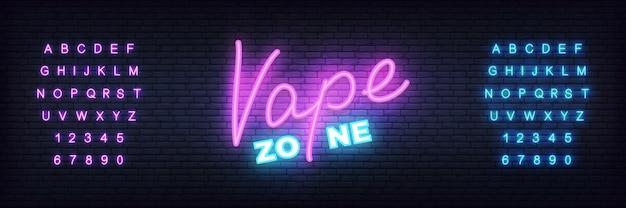 Modelo de banner de néon de zona vape