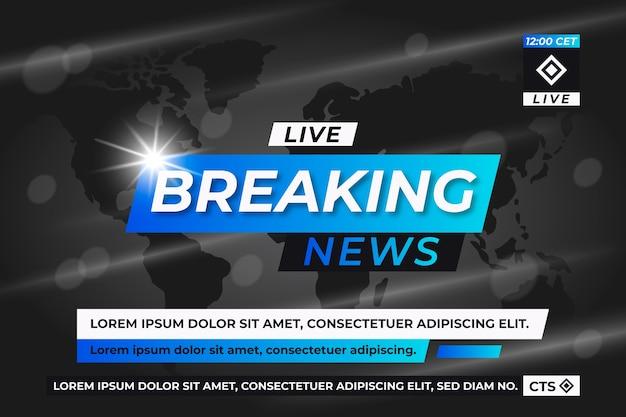 Modelo de banner de notícias de última hora
