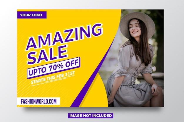 Modelo de banner de oferta de venda incrível