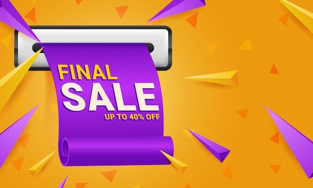 Modelo de banner de oferta especial de venda final