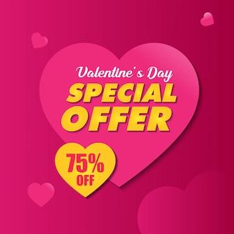 Modelo de banner de oferta especial dos namorados