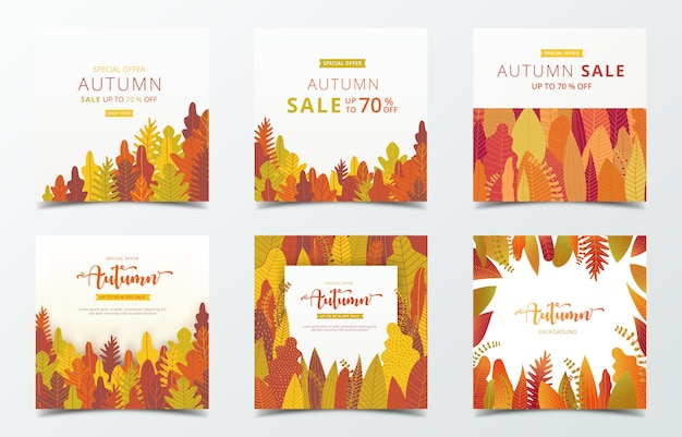 Modelo de banner de outono.