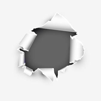 Modelo de banner de página rasgada com copyspase