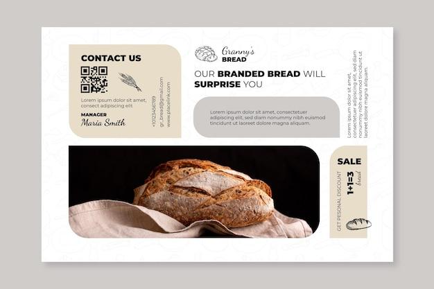 Modelo de banner de pão com foto