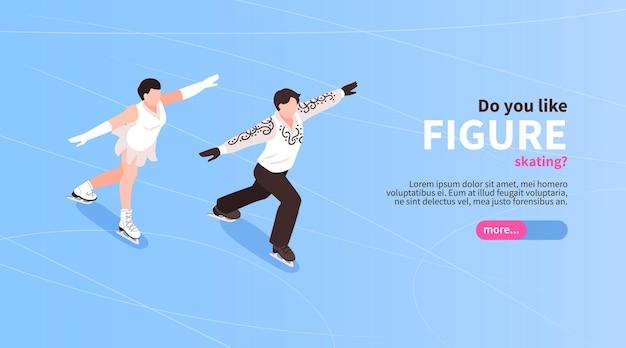 Modelo de banner de patinação artística