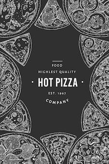 Modelo de banner de pizza italiana de vetor