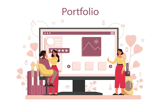 Modelo de banner de plataforma online