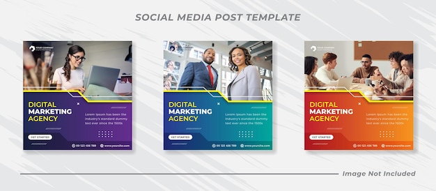 Modelo de banner de postagem de mídia social de marketing empresarial