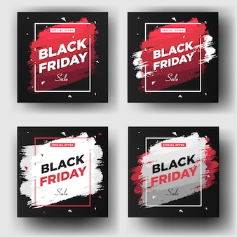 Modelo de banner de postagem de mídia social sexta-feira negra