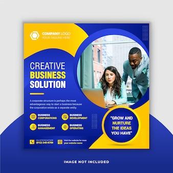 Modelo de banner de postagem do instagram para negócios corporativos
