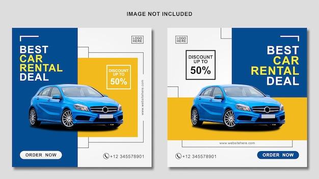 Modelo de banner de postagem no instagram para aluguel de carros