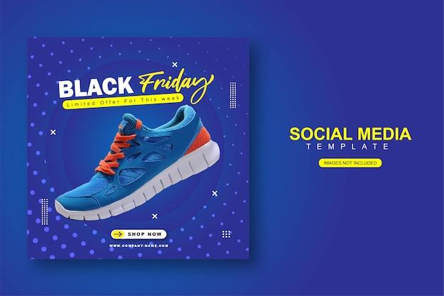 Modelo de banner de postagem no instagram para redes sociais balck friday