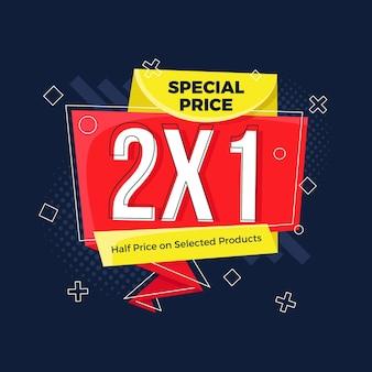 Modelo de banner de promoção 2x1