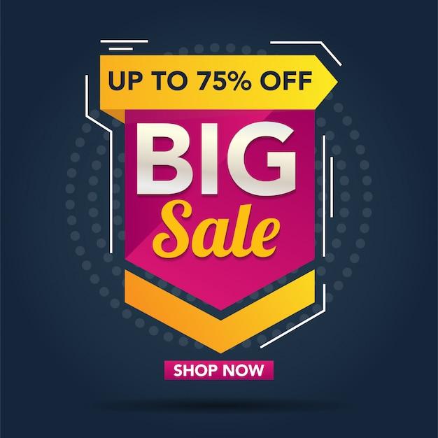 Modelo de banner de promoção de grande venda
