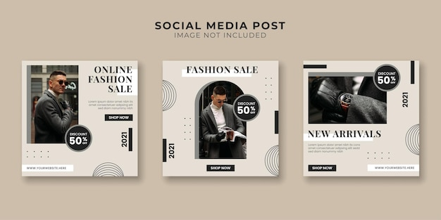 Modelo de banner de promoção de mídia social de venda de moda