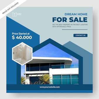 Modelo de banner de promoção de propriedade elegante