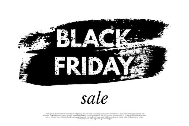 Modelo de banner de promoção de venda da black friday