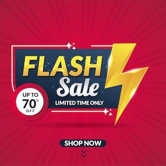Modelo de banner de promoção de venda de flash moderno para mídias sociais