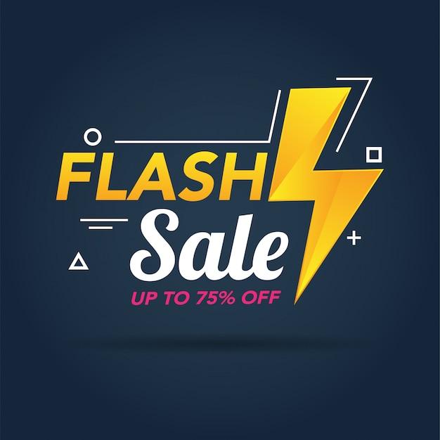 Modelo de banner de promoção de venda em flash