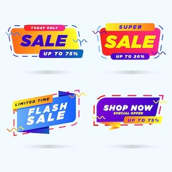 Modelo de banner de promoção de venda