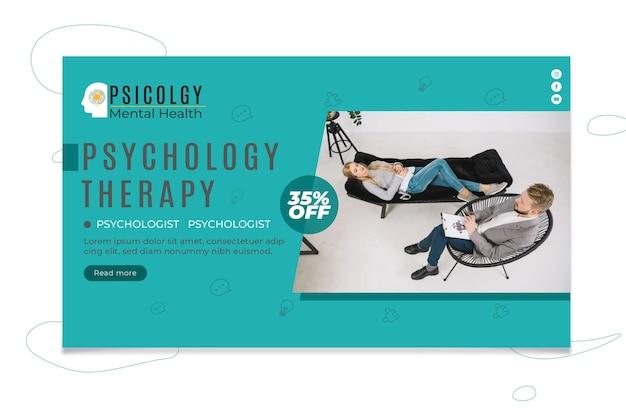 Modelo de banner de psicologia Vetor Premium