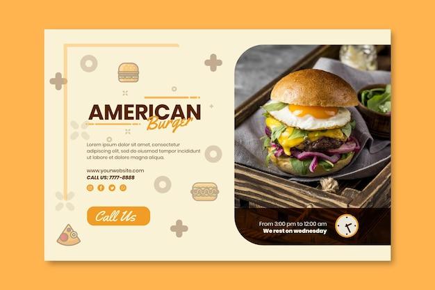 Modelo de banner de pub de comida americana