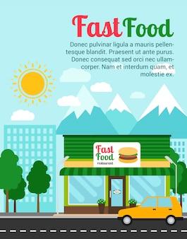 Modelo de banner de publicidade restaurante fast food