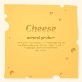 Modelo de banner de queijo lindo