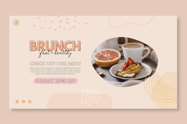 Modelo de banner de restaurante brunch