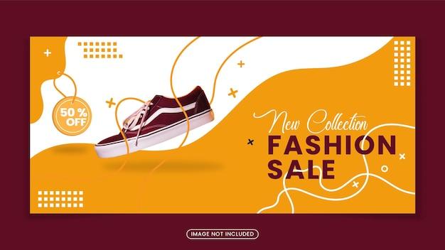 Modelo de banner de sapatos