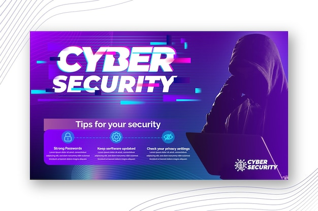 Modelo de banner de segurança cibernética