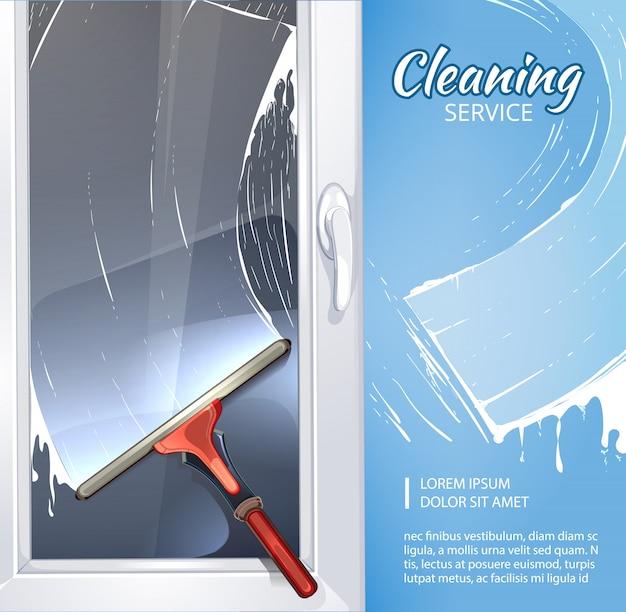 Modelo de banner de serviço de limpeza