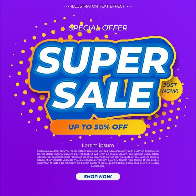 Modelo de banner de super venda