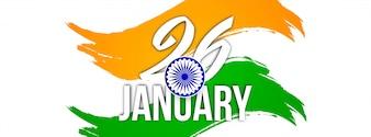 Modelo de banner de tema lindo bandeira indiana