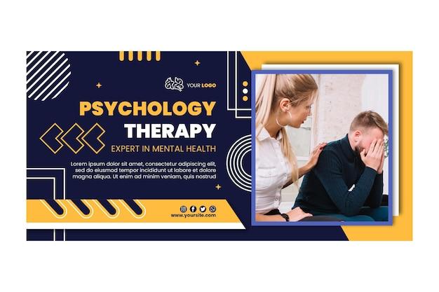 Modelo de banner de terapia psicológica