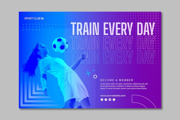 Modelo de banner de treinamento com foto