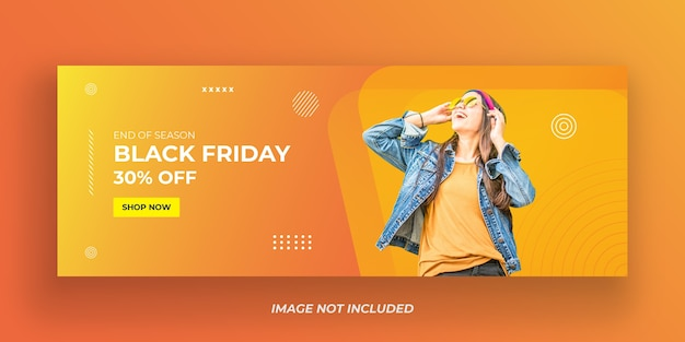 Modelo de banner de venda da black friday
